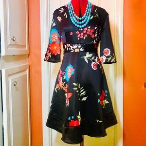 Dresses & Skirts - 🔥REDUCED🔥 NWT satin black skater dress